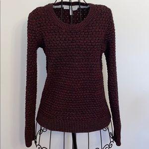 EUC Victoria's Secret puff stitch marl sweater